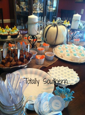 A Fall Baby Shower Tablescape