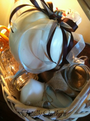 A Basket of Some of the Pumpkin Decor