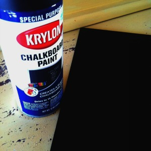 A Freshly Painted Board With Krylon Chalkboard Paint