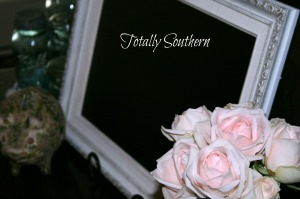 Painted Frame Chalkboard Display