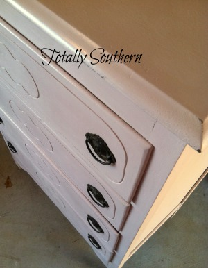 Custom Color Annie Sloan Chalk Paint on Chest of Drawers