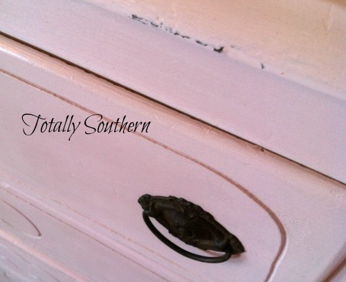 Pale Pink Dresser with Original Hardware