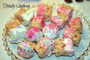 A Plate of Rice Krispies Bites