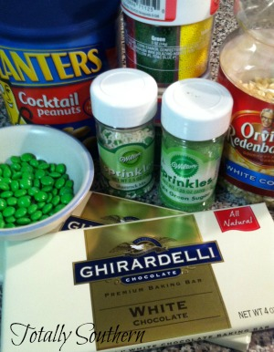 Ingredients for White Confetti Popcorn